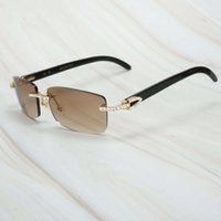 Ienbel Buffalo Horn Homens Fish Designer Diamond Sunglasses Gafas The Sol Hombre Luxo Tons Aleatórios para Mulheres 21ss