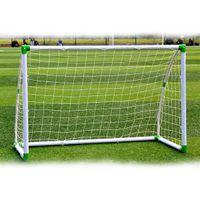 6 'x 4' Fussball Zieltraining Set mit Net Schnallen Bodennagel Fußballsport für Innen im Freien