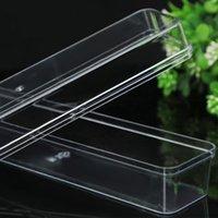 Прозрачная пластиковая коробка с крышкой прямоугольные организаторы 3.5 * 17 * 4 см. Стекируемый ящик для хранения для подарочных специй Ювелирные изделия P75