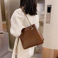 Winter autumn women's 2021 new fashion messenger bag high capacity advanced chain Lingge niche