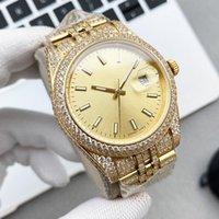 Mens Watch Automatic Mechanical Watches Sapphire 41mm Strap Diamond-studded Steel Women Wristwatches Full Diamond High Qualit