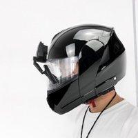 Casques de cyclisme Casque de moto universel Essuie-glace Moteur électrique Compatible avec la plupart des accessoires de visière