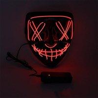 Новая маска Хэллоуина светодиодный свет Маски для вечеринки Маски для выдачи чистки Года выдачи, великие забавные маски фестиваля косплей костюм поставки свечения в темноте 6 S2