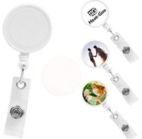 Sublimation Blank Nurse Badge Party Favor Plastic DIY Office Work Card Hanging Buckle Can Be Rotated SN5541
