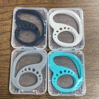 4 couleurs Silicone Keekods Bluetooth Headset Titulaire anti-goutte Avec Box Sprot Exécuter Écouteur Couvre-oreillette Couvercle de protection de protection LLA508