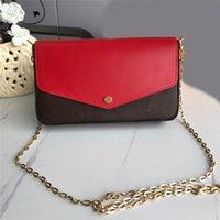 2021 Fashion Designers Women shoulder bags luxurys lady classic flowers Handbags high quality leather Chains crossbody Original Box Plaid purses 61276F