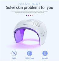 PDT 치료 접이식 7 색 PDT 얼굴 LED 라이트 테라피 피부 회춘 기계 스파 여드름 리무버 안티 - 주름 및 여드름 치료