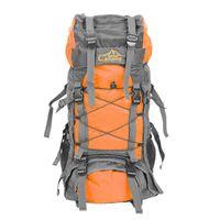 Grande capacité 60L sac à dos pliable imperméable sac de camping avec couvercle de pluie orange gris camping randonnée Trekking sport voyage sacs d'escalade