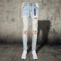 2021 Designers Men S Clothing Men's Distressed Ripped Skinny Jeans Mens Jeans Slim Motorcycle Moto Biker Causal Mens Vintage Denim Pants