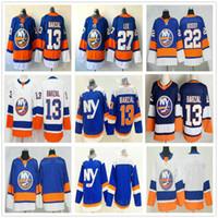 2021 Реверс Ретро Нью-Йорк Овивери # 13 Mathew Barzal 22 Mike Bossy 27 Anders Lee Alternate Blue Men Женщины Kids Youth Hockey Hoxkey
