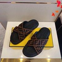 2021 최고 품질의 고급스러운 디자이너 남성 슬리퍼 샌들 남자 신발 슬라이드 여름 패션 와이드 플랫 플립 플롭 상자 크기 39-45 -L297