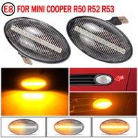 2X 12V 흐르는 측면 중계기 램프 다이나믹 LED 측면 마커 라이트 패널 램프 오류 BMW 미니 쿠퍼 R50 R52 R53 2002-2008