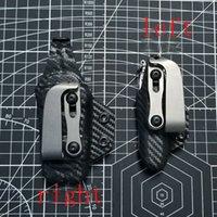 EDC Titanium Alloy Knife Back Clip Survival Tactical Pocket Clip Outdoor Pockets Flashlight Umbrella Cord Pendant OT94
