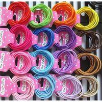 10 unids / set Bandas de goma para el cabello Niños Chicas Bandas de pelo Anillo Círculo Círculo Hairbands Baby Headbands Joyería Diadema Accesorios H26ENAH