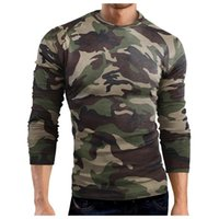 Men's T-Shirts Feitong Long Sleeve Camouflage T-shirt Fitness Breathable Sports Quick-drying Hunting Camping Shirts Brand Clothing
