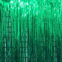 Party Decoration Metallic Foil Fringe Curtains Po Booth Tinsel Door Backdrop