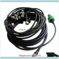 Equipments Supplies Patio, Lawn Home & Gardendiy 5 10 25M Fog Nozzles Irrigation System Portable Misting Matic Watering Garden Hose Spray He