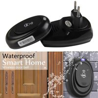 Doorbells Wireless Doorbell Operating At 500 Feet With 1 Plug-in Receivers, CD Quality Sound 36 Melodies To Choose, Black