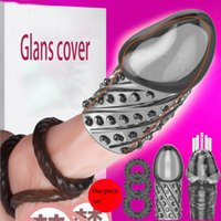 Penis Sleeve Cockrings Silicone Reusable Cock Extender Delay Ejaculation Lock Ring Erotic Sex Toy for Men