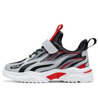 Schwarz Rot Flaming Jungen Schuhe Frühling Herbst Neue Kinder Sport Jungen Alte Sneaker Leder-gefrorenes Laufflut