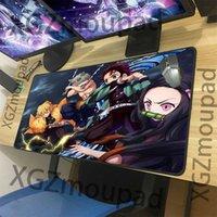 XGZ Anime Demon Slayer Kimetsu No Yaiba HD Game Large Mouse Pad Black Exquisite Lock Edge Computer Desk Mat Rubber Non-slip Xxl Y0308