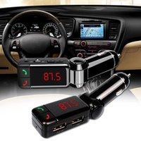 Modulatore FM Auto MP3 Lettore MP3 Handsfree Wireless Bluetooth Kit FM Trasmettitore LED Auto MP3 Player con caricabatterie USB Accessori per auto