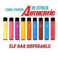 ELF-Bar 1500 Puffs 16Colors Einweg-E-Zigaretten Vape-Stift 4,8ml 2% Vorgefüllte Patrone Pod Gerät 850mAh Battley Air Diamond Lux Max City FLM 3500 Geek 600 800
