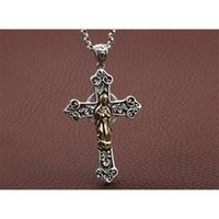 Luxury Design Pendant Necklace Fashion Jewelry S925 Sterling Silver Virgin Mary Cross Men's and Women's Sweater Chain Thai