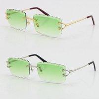 2021 stile metallico stile senza nessuno taglio scolpito lente quadrata occhiali da sole classes c decorazione moda maschio e femmina 18 carati oro con scatola occhiali da sole occhiali fantasiosi occhiali da vista