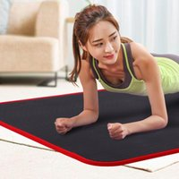 Yoga Mats 183cmX61cmX10mm Thickened NBR Mat Non-slip Fitness Gym Sports Cushion Gymnastic Pilates Pads With Bag & Strap