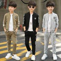 Boys' sportswear 2021 new big boys' Autumn two-piece set children's boys' handsome spring and autumn style