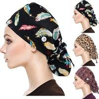 حافة واسعة القبعات 2021 أزياء كاب فرك مع أزرار بوفانت قبعة العصابة للمرأة والرجال سيدة حماية الشمس على مهل