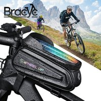 Bike Bicycle Front Top Tube Bag 7.0 Inch Touch Screen Phone Case Bag Waterproof Cycling Phone Mount for MTB Frame Handlebar Bag