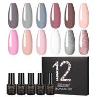 Nail Art Kits Fast Gel Polish Set 6 12PCS Manicure Machine For Nails Poly Kit Professional ROSALIND