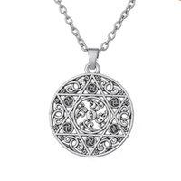 Pendant Necklaces Viking Style Necklace For Women Men Hexagram Pattern Special Vintage Charm Jewelry Zinc Alloy Drop