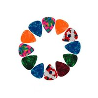 Lote de 100 pcs por atacado guitarra picks celulóide 0.71mm / 0.46mm plectragum mistura de cores