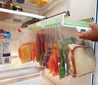 Storage Rack Refrigerator Ziplock Bag Finishing Holder Pull-out Organizer Kitchen Receives Arrange Frame Commodity Shelf 35PCS by sea LD61210