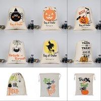 هالوين أكياس الحلوى هدية ديكورات كيس علاج أو خدعة اليقطين المطبوعة قماش هالوين عيد الميلاد حزب مهرجان الرباط حقيبة 1031 b3