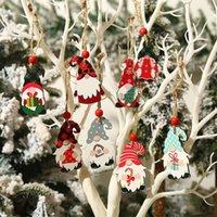 Christmas Decorations Wooden Pendant Xmas Tree Drop Ornaments Door Hanging Decoration Home Year Pendants #4