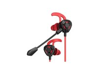 Gaming Earphone, In-Ear Games Headset 7,1 Stereo Bass med Dual Mic För Telefon, Tablet, Laptop, PC