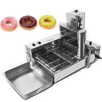 Kostenloser Versand Kostenwerte kommerzielle Vollautomatische Donuts Maschine Süße Weizenringmaschine110V 220V 3000W Edelstahl Donuts Hersteller