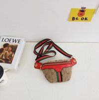Diseñador Niños Abejas Carta Cofre Mochilas 2021 Niños Stripe Correa Cintura Bolsas Messenger Bag A4947