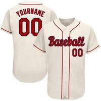 Профессиональный пользовательский бейсбол Джерси вышитая сшитая сшитая команда логотип имени номер софтбол Униформа кнопка вниз для мужчин / женщин / молодость