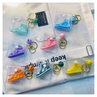 Keychains 2021 Trend Sports Shoes Keychain Woven Rope Buckle Pvc Sneaker Key Chain Men's Women's Car Bag Pendant Accessories Keyring Gift