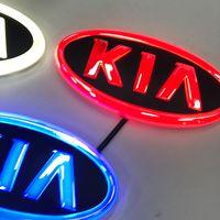 Carro estilo 4D logotipo luz emblema luz para kia logotipo laser projetor emblema logotipo luzes led badge adesivo lâmpada 1 pcs