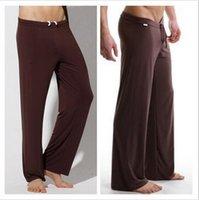 Men's Sleepwear 1pcs Wholesale Balck Mens Sleep Bottoms Leisure Sexy For Men And Long Pants Panties Underwear Free