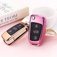 TPU 자동차 키 케이스 자동 키 보호 커버 Audi C6 A7 A8 R8 A1 A3 A4 A5 Q7 자동차 홀더 쉘 다채로운 자동차 스타일링 액세서리