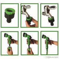 Conector rápido retráctil Manguera de agua con múltiples funciones Casa de pistola de agua Garden Riego Lavado Latex 25 pies Sistema de manguera expandible DH0755 T03