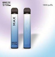 Factory Price Disposable Vape Pen Breze Stick Electronic Cigarettes 950mAh Battery 1800 Puffs 6ml Pod Pre-Filled Pods 8 Colors