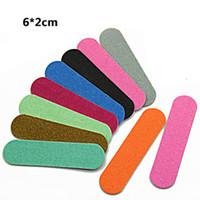 Nageldatei Einweg-Holz-Sandpapier-Dateien für Maniküre doppelseitige kleine Nägel-Puffer-Lime A Plainle Professional